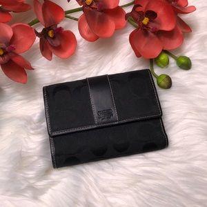 Coach black signature canvas wallet